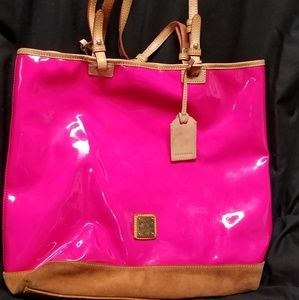 Dooney and Boutke pink patent bag